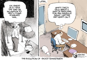 Cartoon-The Evolution of Good Samaritanism