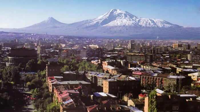 View of Yerevan with Mount Ararat in the distance